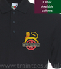 Cycling lion polo shirt.
