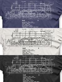 Steam loco blueprint t shirts traintees steam loco blueprint t shirts malvernweather Gallery
