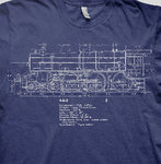 Steam loco Blueprint long sleeve t-shirts